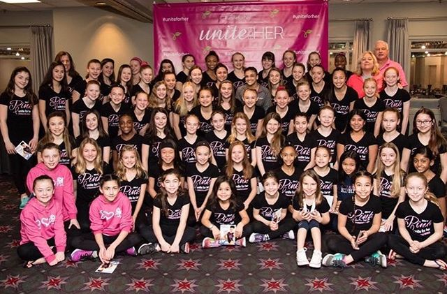Team express xcel gymnastics express too the express team at their meet and greet with laurie hernandez after another year of raising the most money for unite for her thanks to everyone who helped m4hsunfo